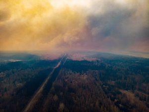 Горит зона отчуждения: отголоски пожара дошли до Киева